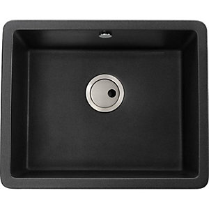 Abode Matrix Sq 1 Bowl Um Granite Black Sink