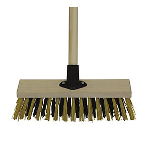 11in Stiff PVC Broom Complete with Bracket & Handle
