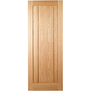 Interior Oak Ripon Satin Hinge, Handle & Latch Door Bundle""