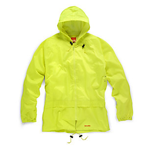Scruffs 2 Piece Yellow Waterproof Rain Suit L