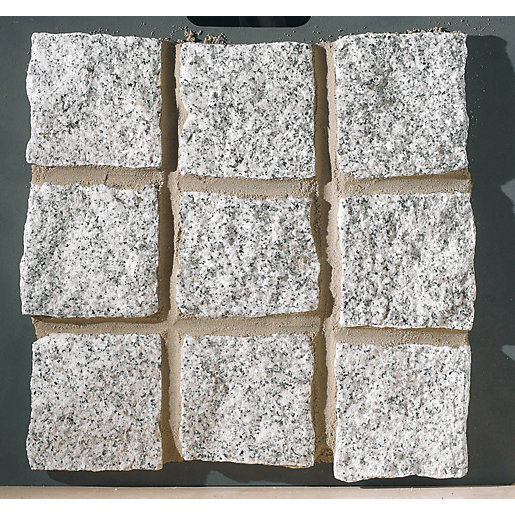 Marshalls Fairstone Silver Grey Cropped Granite Setts 100mm x 100mm x 100mm - Pack of 400