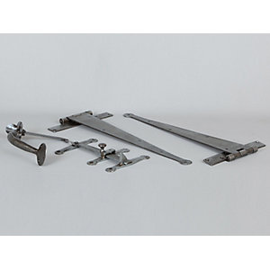 Pewter Ledged Door Hardware Set