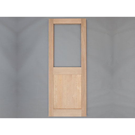 Heritage Solid Oak Custom Size 2 x G External Door