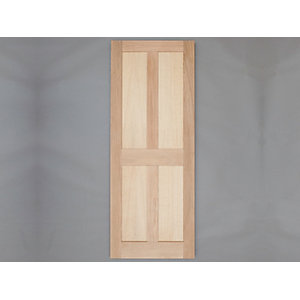 Heritage Solid Oak Custom Size 4 Panel External Door