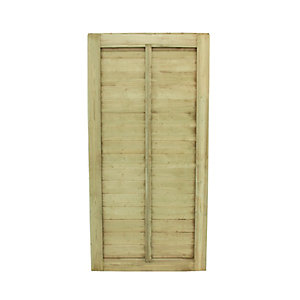 Forest Garden Pressure Treated Square Lap Gate 1820mm x 910mm