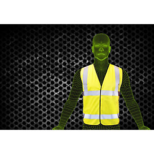Armour Up Hi-viz Yellow Safety Vest XL