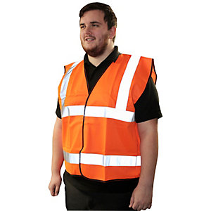 Armour Up Hi-viz Orange Safety Vest XL