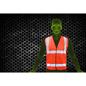 Armour Up High Visibility Orange Waistcoat EN20471 Size Medium