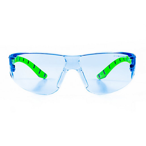 Armour Up Wraparound Safety Glasses Blue Lens