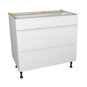 Madison White Gloss 900mm Drawer Unit - Part 1 of 2