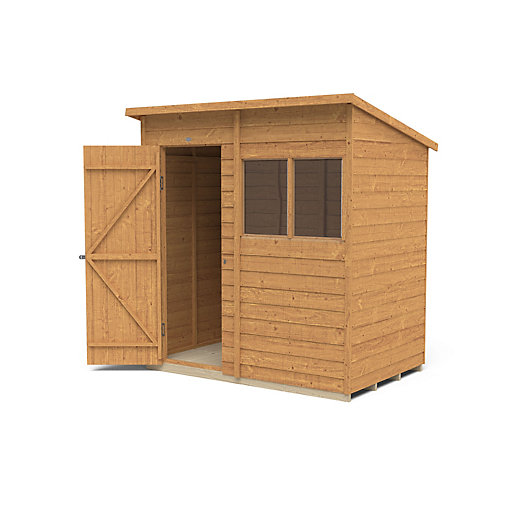 Overlap Dip Treated Pent Shed 6 ft x 4 ft