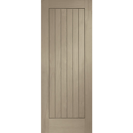 Travis Perkins Internal Fully Finished Suffolk Door Crema Stain 1981 x 838 x 35mm 33in