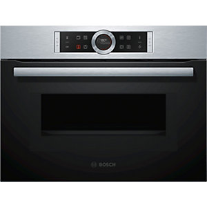 Bosch Serie 8 Compact Oven with Microwave and LED Lighting Stainless Steel - CMG633BS1B