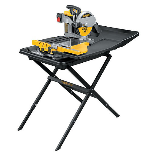 DeWalt D24000-GB 250mm Slide Table Tile Saw with Legstand 240V