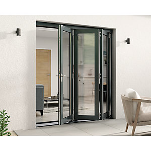 Travis Perkins 54mm Grey External Sliding Folding 1800mm Door Set