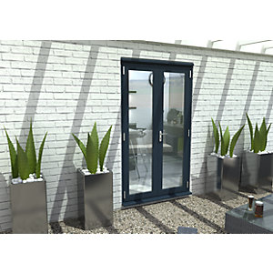 Travis Perkins 54mm Grey External French 1200mm Door Set