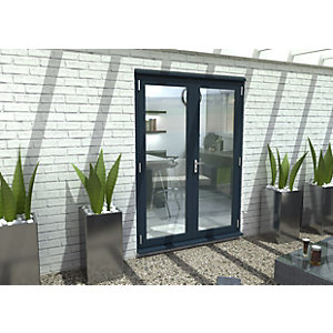 Travis Perkins 54mm Grey External French 1500mm Door Set