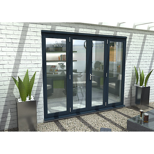 Travis Perkins 54mm Grey External French Vestibule Door Set 1200mm - Sidelights Sold Separately