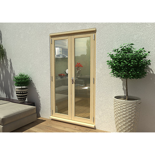 Travis Perkins 54mm Unfinished External French 1200mm Door Set