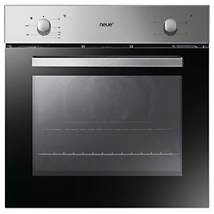 Neue Single Conventional Oven and Grill with Rotary Control Stainless Steel FNS201X
