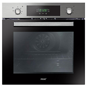 Neue Single Fan Oven with Timer and Rotary Control Stainless Steel FNP615X