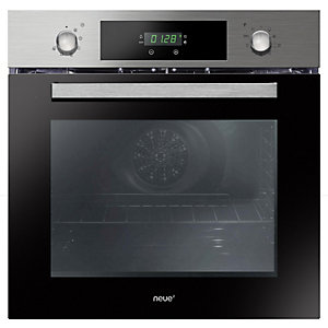 neue Multifunction Pyrolytic Oven Triple Glazed with Rotary Control Stainless Steel FNPK606X