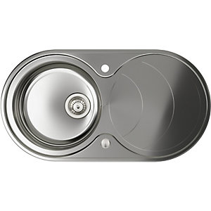 Abode Circuit 1 Bowl Inset Stainless Steel Kitchen Sink