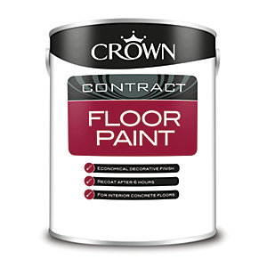 Crown Contract Crown Floor Paint Grey 5L