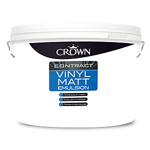 Crown Vinyl Matt Brilliant White 10L