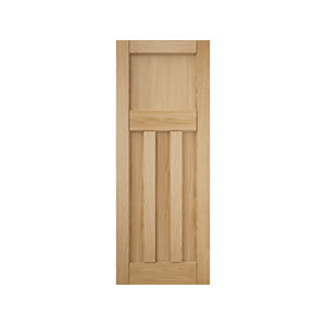 3 Panel White Oak Interior Door