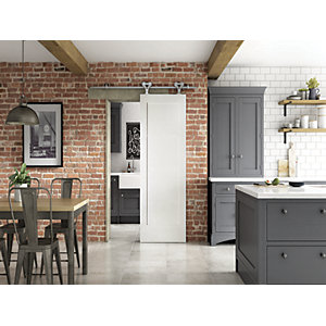 Primed Shaker 1 Panel Sliding Elegant Door 862mm