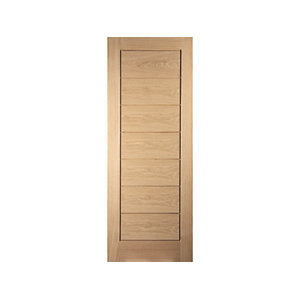 Oregon Cottage Horizontal Interior White Oak Door