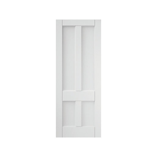 4 Panel Interior Primed Deco Solid Core Door 838mm