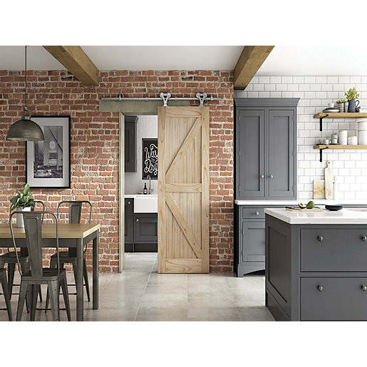 Framed Ledged & Braced Sliding Elegant Barn Door 862mm