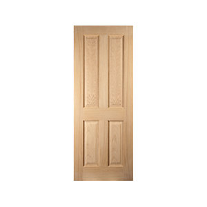 Jeld-wen Oregon 4 Panel American White Oak Interior 35mm Fire Door Fd30 1981x838mm