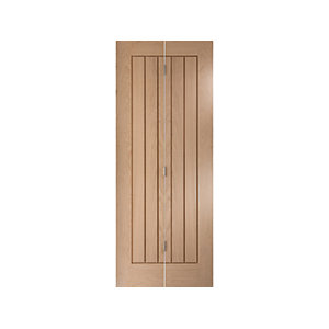 Oregon Cottage Bi-fold White Oak Interior Door