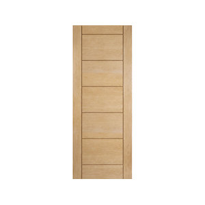 Jeld-wen Oregon Ladder Panel Interior White Oak Door 1981x762mm