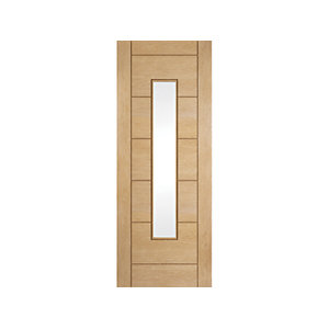 Oregon Ladder Clear Glazed Interior White Oak Door