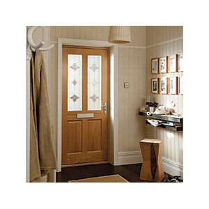 Oregon 4 Panel White Oak Exterior Door 1981x838mm