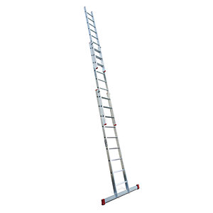 Lyte EN131-2 Non-Professional 3 Section Extension Ladder 3x9 Rung