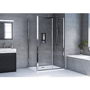 Aqualux 6mm Hd Sliding Shower Enclosure 1900mm With 35mm Tray