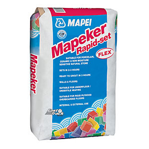 Mapeker Rapid Setting Flexible Grey Tile Adhesive 20kg