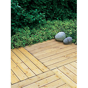 Patio Timber Deck Tile 900 x 900 mm