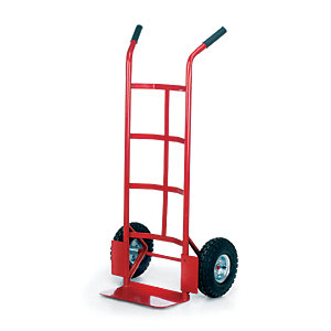 Toptruck Pneumatic Tyre Sack Truck Red - 1155H x 550W x 450mm D