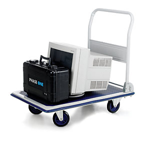 Toptruck Flatbed Trolley, 870H x 608W x 907mm D - 300kg Capacity""