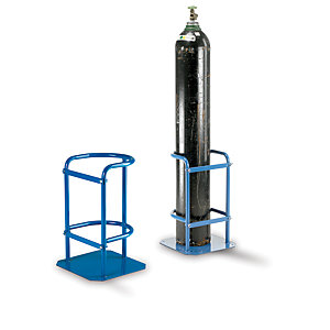 Gas Cylinder Stand Blue (RAL5019) for max. 280mm dia. Cylinder - 600H x 340W x 310mm D