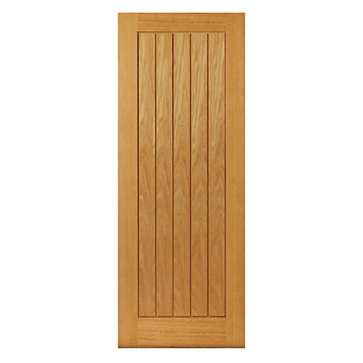 Jb Kind Oak Internal Prefinished Suffolk Door 1981 x 762 x 35mm 30 in
