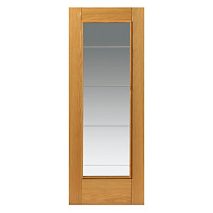 Jb Kind Oak Medina Internal Prefinished Glazed Door 35 x 1981 x 686mm
