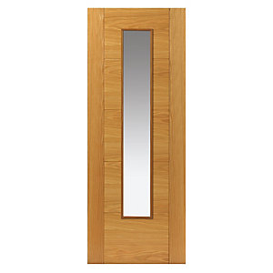 Jb Kind Oak Emral Prefinished Glazed Door 35 x 1981 x 838mm