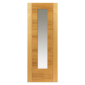 Jb Kind Oak Mistral Internal Prefinished Glazed Door 35 x 1981 x 686mm